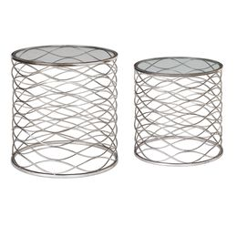 Uttermost Aida Iron Cage Accent Tables, S/2