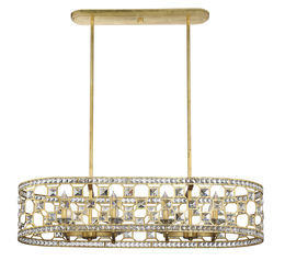 Clarion 8 Light Oval Chandelier