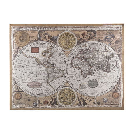 Antique style world map wall art scout nimble gumiabroncs Gallery