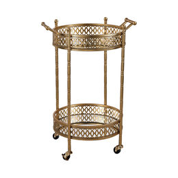 Banded Round Bar Cart
