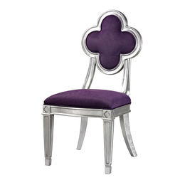 Petal Back Dining Chair In Purple