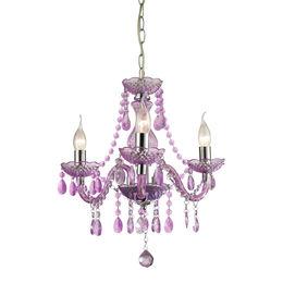Theatre-3 Light Purple Mini Chandelier