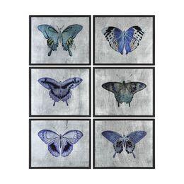 Uttermost Vibrant Butterflies Prints S/6