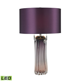 Ferrara Free Blown Glass Table Lamp in Purple