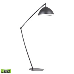 Industrial Elements Adjustable Floor Lamp in Matte Black