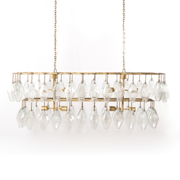 ADELINE RECTANGULAR CHANDELIER-GOLD LEAF