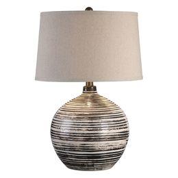 Uttermost Bloxom Mocha Ivory Lamp