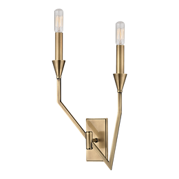 Archie 2 LIGHT LEFT WALL SCONCE
