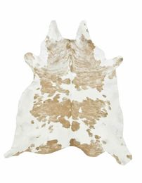 Beige/White Special Cowhide Rug - MEDIUM