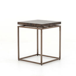 ROMAN SIDE TABLE-OXIDIZED IRON/OXIDIZED BRONZE