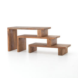 FERRIS NESTING CONSOLE TABLE-NATURAL PEROBA