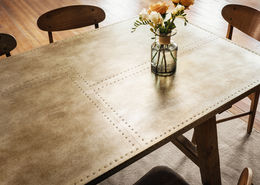 KIRK DINING TABLE-BLEACHED OLD FIR