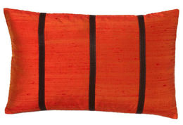 Orange with Stripes Pillow