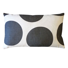 Black Dotted Pillow