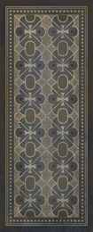 Pattern V grey on blue runner