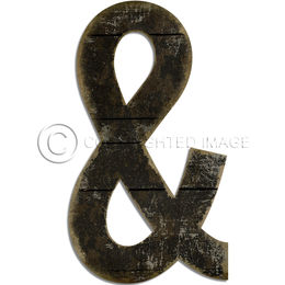 Ampersand Black Cutout