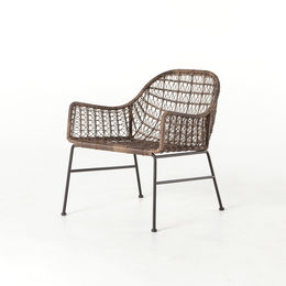Bandera Outdoor Woven Club Chair-Grey