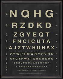 BC Eye Chart - Letters