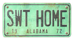 Alabama License Plate Swt Home