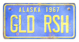 Alaska License Plate Gld Rsh