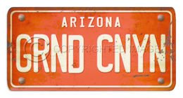 Arizona License Plate Grnd Cnyn