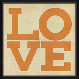 BC LOVE Poster in orange