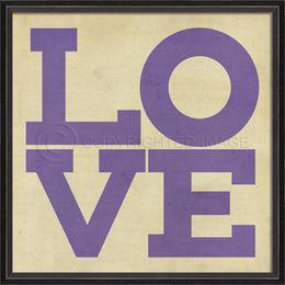 BC LOVE Posters in dark purple