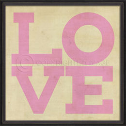 BC LOVE Posters in light pink