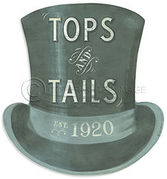 KES Tops and Tails Hat Sign Cutout
