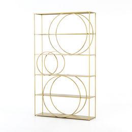 Danielle Bookshelf-Brass Patina
