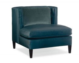 Gabriel Armless Chair in Leather