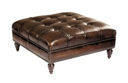 Colton Square Ottoman/ Leather