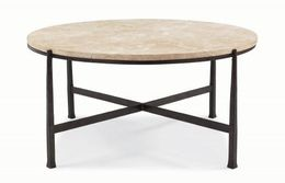 Duncan Round Metal Cocktail Table