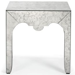 Chantelle Mirrored End Table