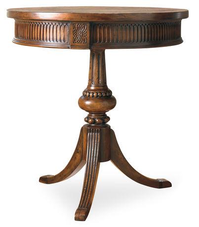 round pedestal accent table scout nimble. Black Bedroom Furniture Sets. Home Design Ideas