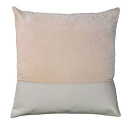 Aria Leather & Velvet Pillow