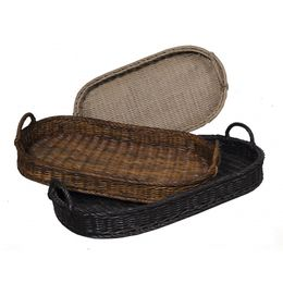 Oval Rattan Trays