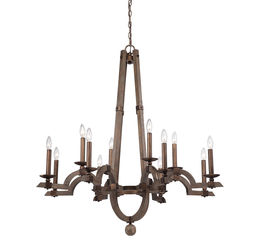 Berwick 12 Light Wood Chandelier