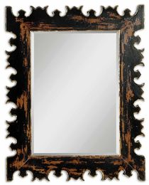 Caissa Antique Black Wall Mirror