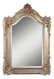 Alvita Small Gold Mirror