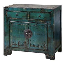 Syretta Antique Console Cabinet
