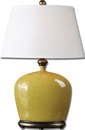 Geraldine Burnt Yellow Table Lamp