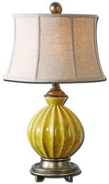 Pratella Burnt Yellow Table Lamp