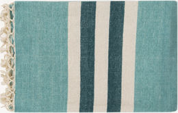 Teal & Blue Throw