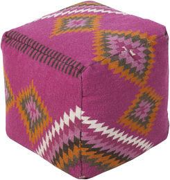 Pink Tribal Pouf