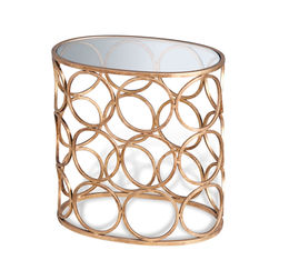 Brigit Circle Side Table - Gold