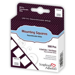 Mounting Squares - 500 White, Initially Repositionable