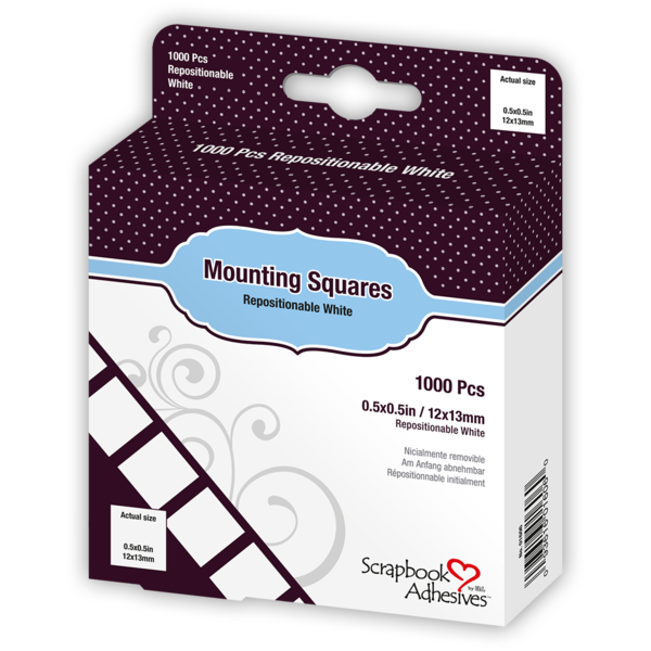 Mounting Squares - 1000 White, Initially Repositionable