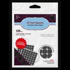3D Foam Squares - Black, Regular