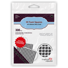 3D Foam Squares - Black, Small